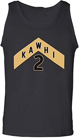 Black Toronto Kawhi We The North Jersey Logo Tank Top