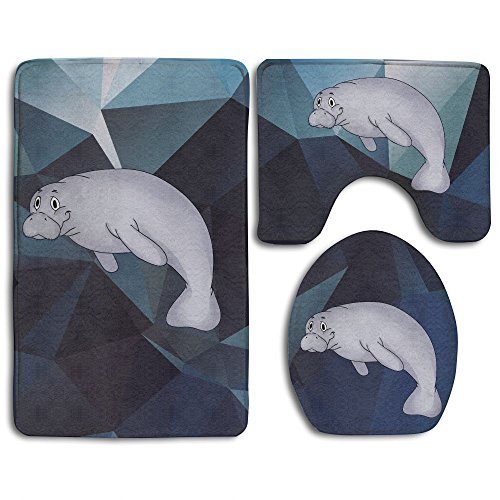 (This Is My Manatee Sea Mammal Ocean Animal Skidproof Toilet Seat Cover Bath Mat Lid Cover)