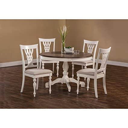 Hillsdale Furniture 5 Pc Round Dining Set In White Finish