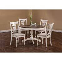 5-Pc Round Dining Set in White Finish