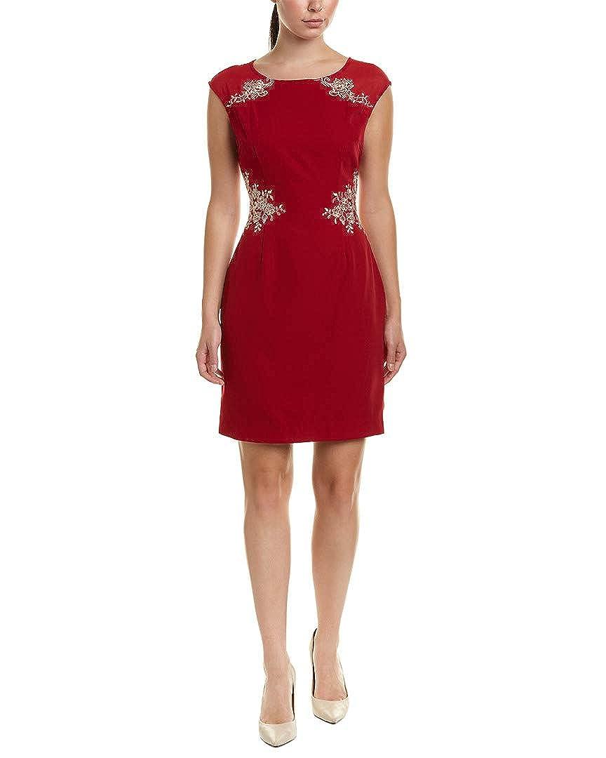 12-14 Red Wine Lanelle Womens Sheath Dress