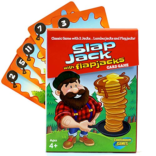Continuum Games - Slap Jack Flap Jacks Card Game, Fun for Kids Age 4 and Up from Continuum Games