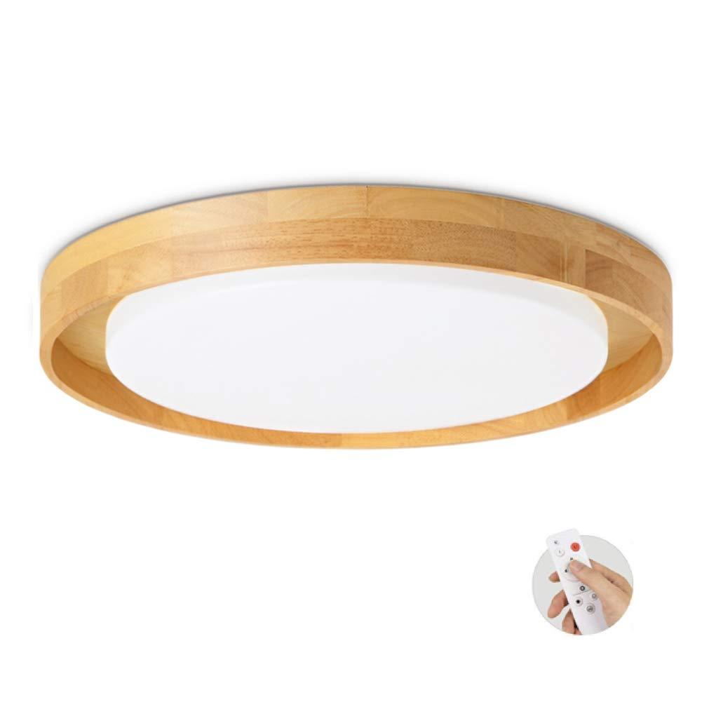 Ultraslim Holz Deckenleuchte, Erröten-einfassung LED 18W Deckenlampe 16  Round Schlafzimmer Wohnzimmer Corridoio Gang-37x37x5cm Stufenloses Dimmen