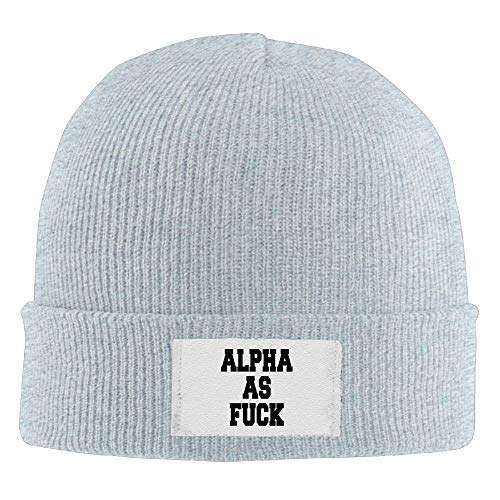 - Mens Womens Knit Beanie Hats Alpha As Fuck Warm Winter Skull Caps