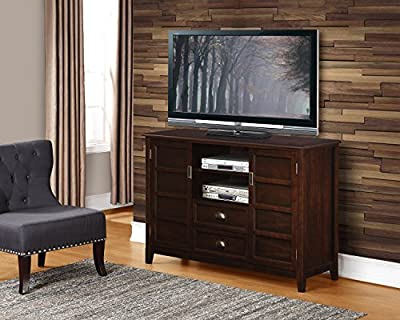 "Simpli Home Burlington TV Media Stand for TVs up to 60"", Espresso Brown"