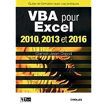 VBA POUR EXCEL VERSIONS 2010, 2013 ET 2016