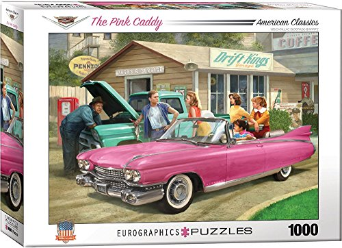 EuroGraphics the Pink Caddy by Nestor Taylor Puzzle (1000 Piece)
