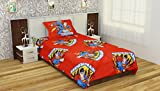 Portico Bedtime Stories 180 TC Single Bedsheet with 1 Pillow Cover – Red