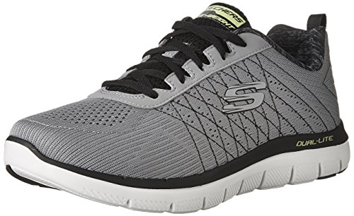 Skechers Sport Men's Flex Advantage 2.0 the Happs Oxford,light gray/black,9.5 2E US