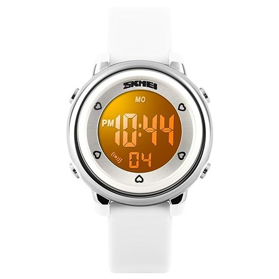tonshen niños deporte digital relojes 50 m resistente al agua 7 colores, al aire libre