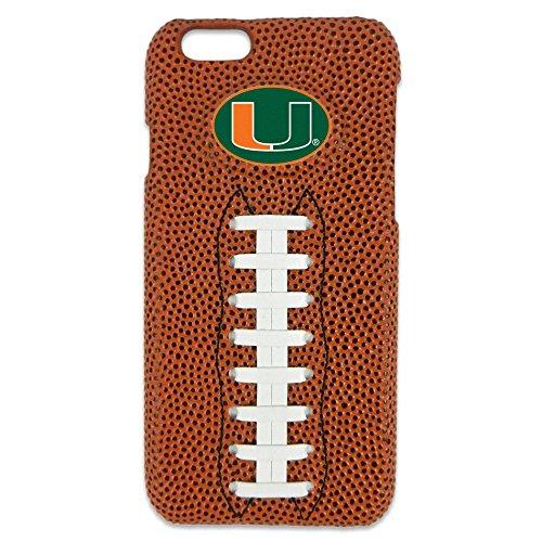 Classic Accessories Hurricane - GameWear NCAA Miami Hurricanes Classic Football iPhone 6 Case, Brown