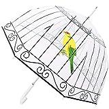 Kung Fu Smith Birdcage Bubble Clear Umbrella for Girls, Windproof Transparent Rain Umbrella