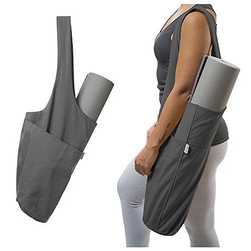 Umiwe Yoga Mat Bag, Exercise Yoga Mat Carry Bag with Large Side Pocket & Zipper Pocket