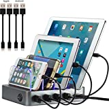 Simicore Charging Station Dock & Organizer for Smartphones, Tablets & Other Gadgets (Space Gray)