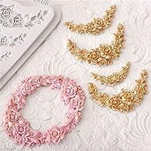 Rose Flower Garland Silicone Mold Border Jewelry Wedding Fondant Cake Tools Stencil Cupcake Mold Decoration Mold Confeitaria Random Color