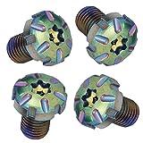 1911 stock titanium coated rainbow pattern Grip screws