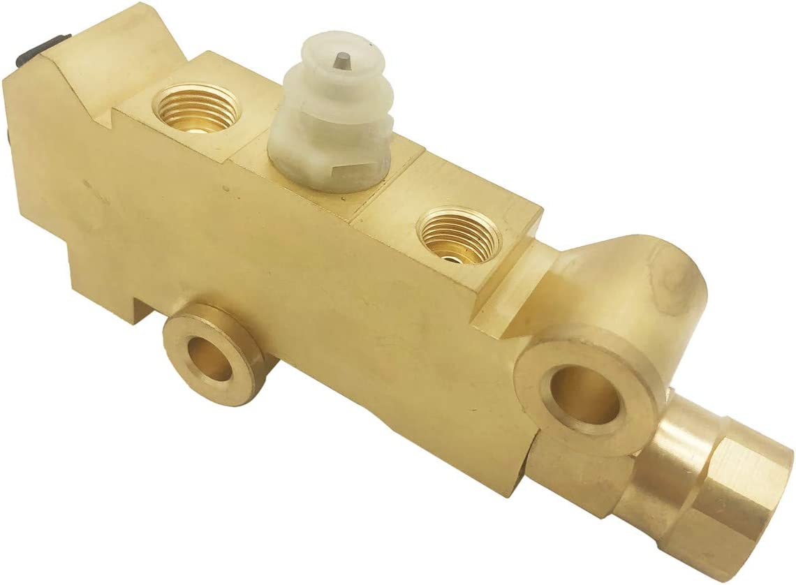 Universal Truck Disc//Drum Brake Brass Proportioning Valve PV2 SABS Replacement for 172-1353 PV71 Front Drum Rear Brake Brass Fit For GM Street Rod Classic Car Truck