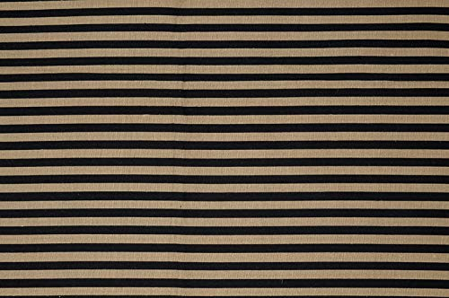 Black Gold Black Gold Striped Silk Shantung 163 Fabric