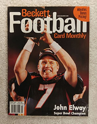 (John Elway - Denver Broncos - Super Bowl XXXII Champions - Beckett Football Card Monthly - #96 - March 1998 - Back Cover: Terrell Davis)