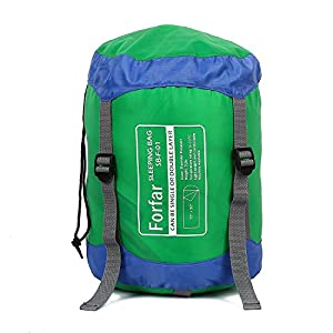 Forfar Sleeping Bag Lightweight Waterproof Envelope Bags With Compression Easy To Compress Good For Camping Backpacking Hiking