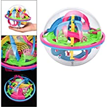 Sikye Magic Maze Ball,Mini Intellect 3D Puzzle Toy Balance Barrier Magic Labyrinth Spherica,Different Barriers for Choice (118 Barriers)