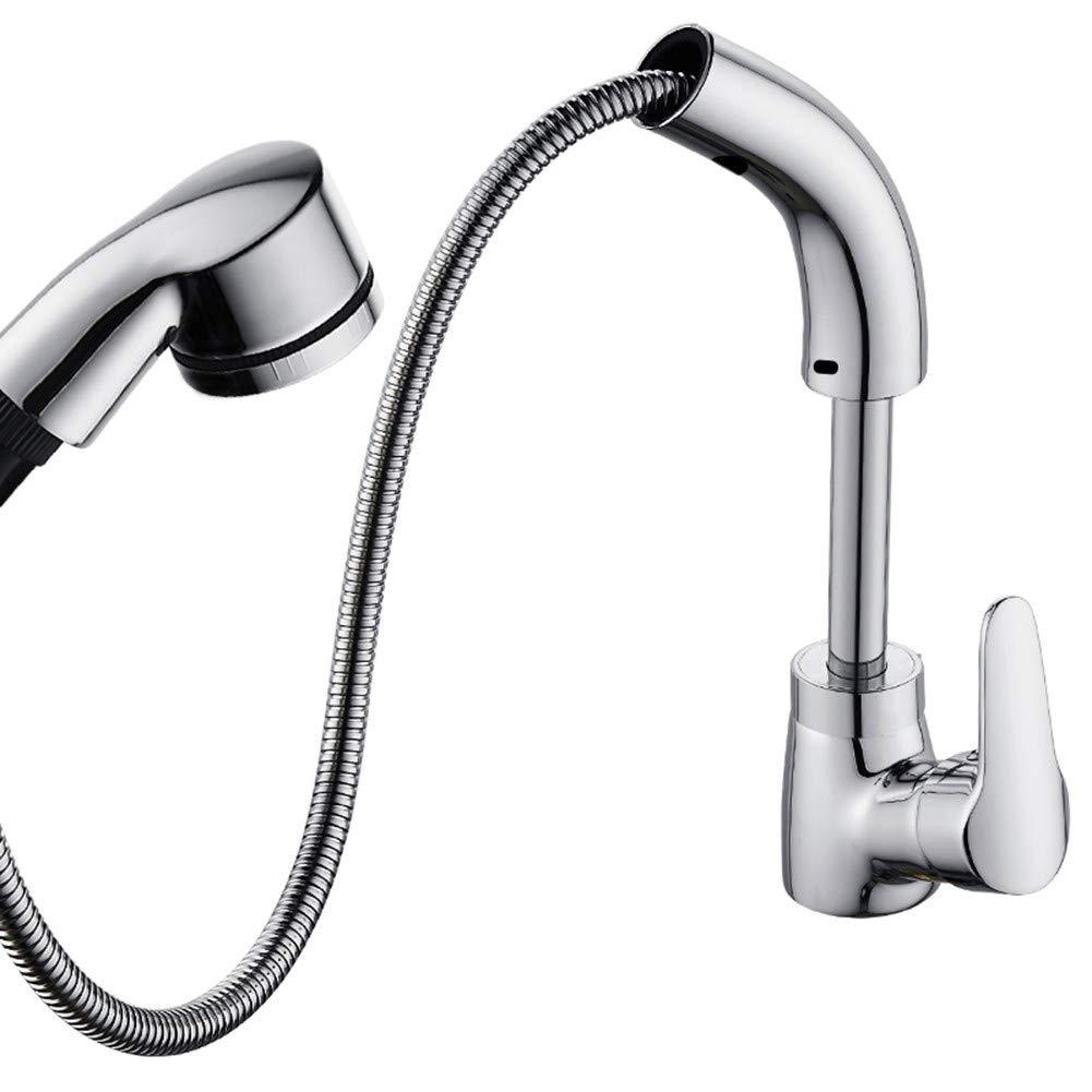 Good quality Wasserhahn Waschtisch Armatur vollen Messinggehäuse können Becken ziehen Waschbecken Handwaschbecken Kaltes Wasser Heben schwenkbare Waschbecken Mischbatterie