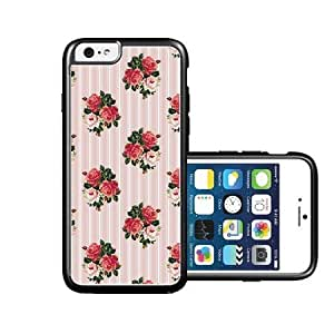 RCGrafix Brand English-Roses-And-Stripes Case For Iphone 6 4.7Inch Cover CaFits NEW Case For Iphone 6 4.7Inch Cover