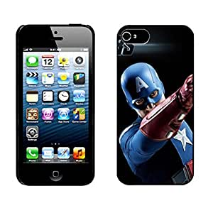 Captain America Black Hard Cover Case for iPhone 5 5s case