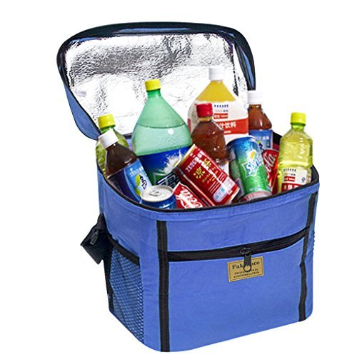Hot Food Thermal Cooler Lunch Carrier Bag Container Outdoor Picnic Tote Insulated Delivery Bags Food Foldaway Takeaway BagsReusable Package Pouch Shopping Handbag