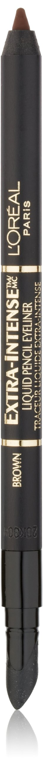 L'Oréal Paris Extra-Intense Pencil Eyeliner, Brown, 0.03 oz.