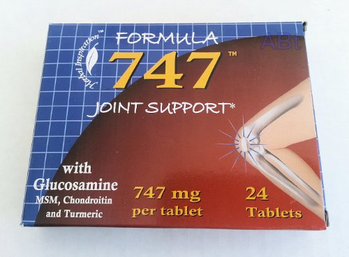 Formula 747 Joint Support With Glucosamine, NSM, Chondroitin & Turmeric 24 tablets (4 pack)... ()