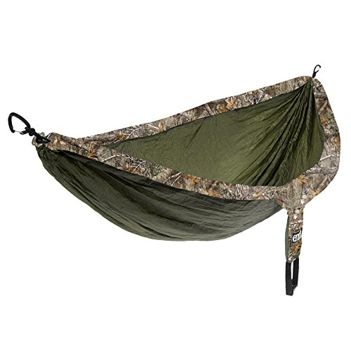 Eagles Nest Outfitters ENO DoubleNest Camo, Portable Hammock for Two, Realtree Edge:Olive
