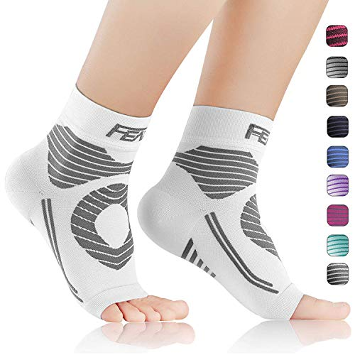 FEATOL Plantar Fasciitis Socks with Arch Support Ankle Support, Ankle Compression Socks Foot Sleeve to Relieve Arch Pain, Better Than Night Splint