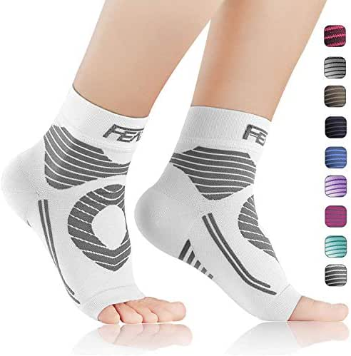 FEATOL Plantar Fasciitis Socks with Arch Support, Compression Foot Sleeves Relieves Achilles Tendonitis, Joint Pain, Swelling, Heel Spurs, Better Than a Night Splint
