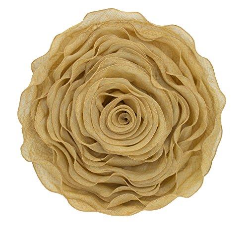 Fennco Styles Beautiful Handmade 3D Rose with Custom Made Fabric Decorative Throw Pillow 16