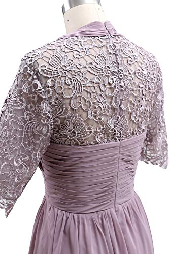 Sleeves Of Women Gown The Dress Formal Lace Mother Bride Clover Evening Macloth Short w18pqwEA