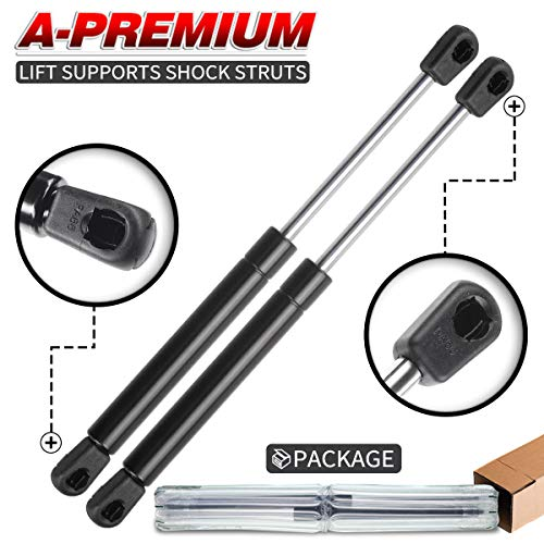 A-Premium Tailgate Rear Trunk Lift Supports Shock Struts for Ford Focus 2000-2004 Sedan with Spoiler 2-PC Set