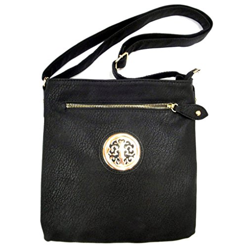 Black Designed Tote Small Fashion Fever Purse Style Crossbody Comp Handbag Silver Hipster Indie 3 xPw0z