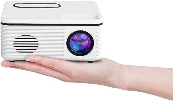 Opinión sobre Zhoutao S361 80 lúmenes 480x320 píxeles Mini proyector Portable, Ayuda 1080P (Color : Blanco)