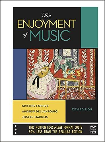 The enjoyment of music twelfth edition kristine forney andrew the enjoyment of music twelfth edition twelfth edition fandeluxe Gallery