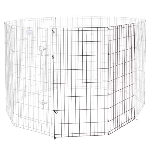 Universal Pet Playpen 2-Panel Extension Kit | Fits Metal 48-Inch Dog Pens | Kit Measures 48H x 47.50W Inches | Includes 4 Thumb Snaps, 2 Ground Stakes ()