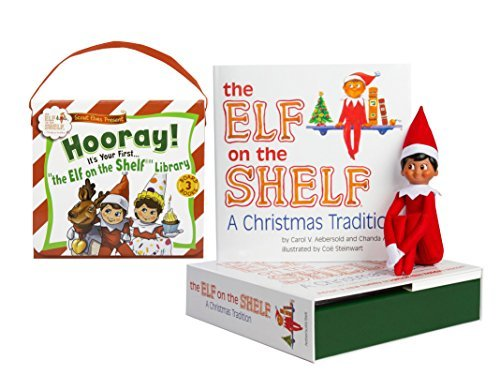 Elf on the Shelf: Boy Scout Elf (Brown Eyed) with The Scout Elves Present: Hooray! It's Your First... The Elf on the Shelf Library (Elf On The Shelf Naughty Or Nice Game)
