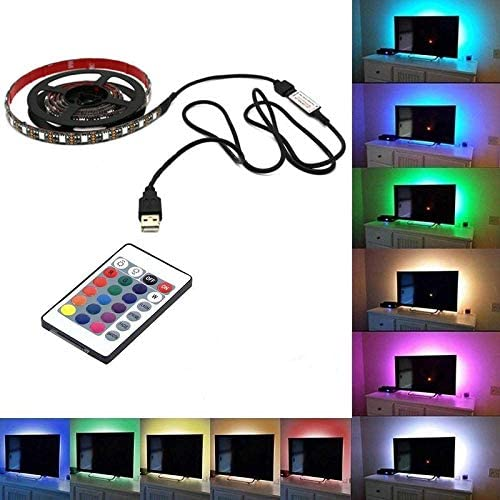 1 m 2 m 5 m USB DEL Strip Lights 5050 RGB TV Rétroéclairage avec télécommande
