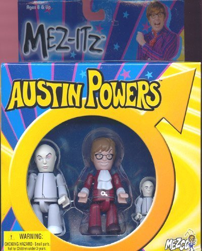 Mezco Austin Powers 3 inch Mez-Itzs: AP+Dr Evil+Mini-Me