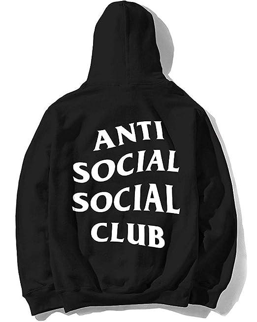 418af14fc0f2 iPedo Unisex Antisocial Social Club Hoodie Kanye West Hoodie  Amazon ...