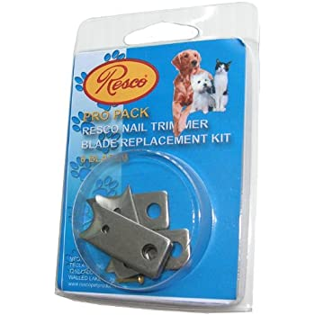 Resco Pro Pack, 6 Blade Replacement Nail Clipper Blades, Fits in All Resco Guillotine Trimmers