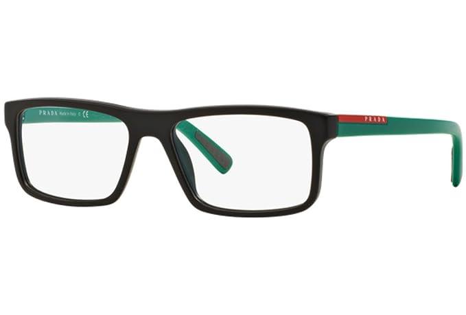 7beba622fa2 PRADA SPORT PS 04GV Eyeglasses UB31O1 Matte Brown 55-16-140  Prada Sport   Amazon.co.uk  Clothing