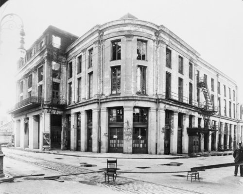 1917 photo Old French opera house, Café de lOpera, Bourbon Street at Toulouse b3 (Cafe Bourbon Street)