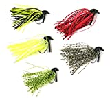 5-Pcs-7g-10g-14oz-38oz-THKFISH-Mixed-Colour-Fly-Rubber-Swim-Bass-Jig-Fishing-Lures