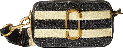 Marc Jacobs Women's Glitter Snapshot Camera Bag, Gold Multi,